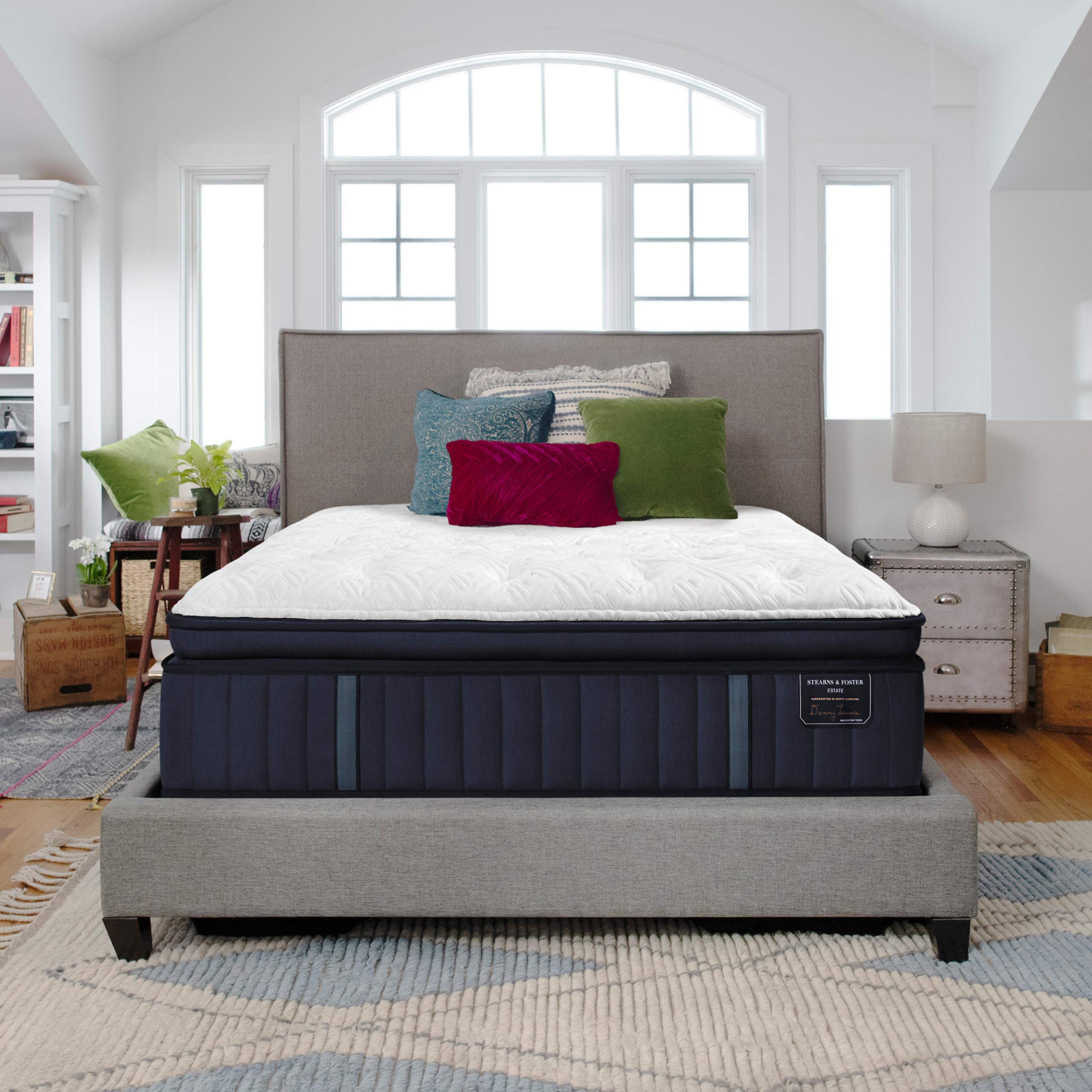 Stearns & Foster Estate, 14.5-Inch Luxury Firm Euro Pillowtop Mattress and 5-Inch Foundation, King, Hand Built in The USA, 10 Year Warranty by Sealy