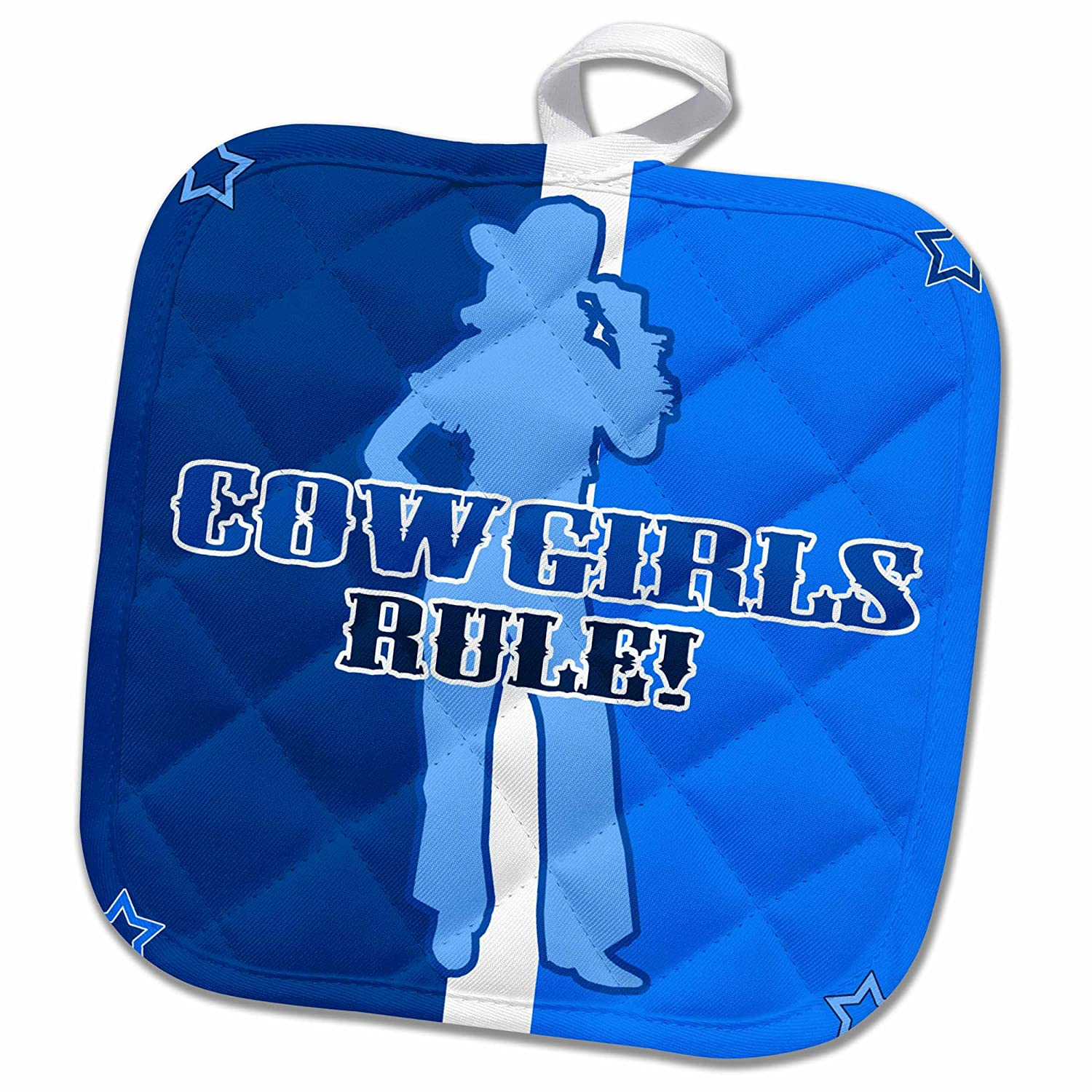 Buy 3drose Cowgirls Rule On Blue Stripes With Stars Potholder 8 X 8 Online At Low Prices In India Amazon In