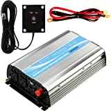 Giandel 1000Watt Power Inverter 12V DC to 110V 120V AC with 20A Solar Charge Controller and Remote Controller and Dual AC Outlets & 2.4A USB Port Big Shell