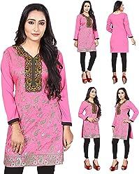 UK Stock - Women Fashion Casual Indian Short Kurti Kurta Top Shirt Dress ECCO15