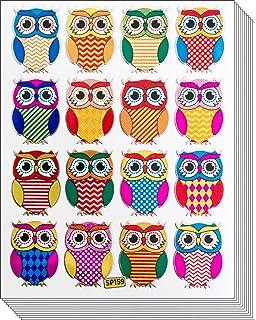Jazzstick 160 Small Glitter Cute Owls Bird Scrapbook Stickers for Kids 10 sheets Value Pack 09A24