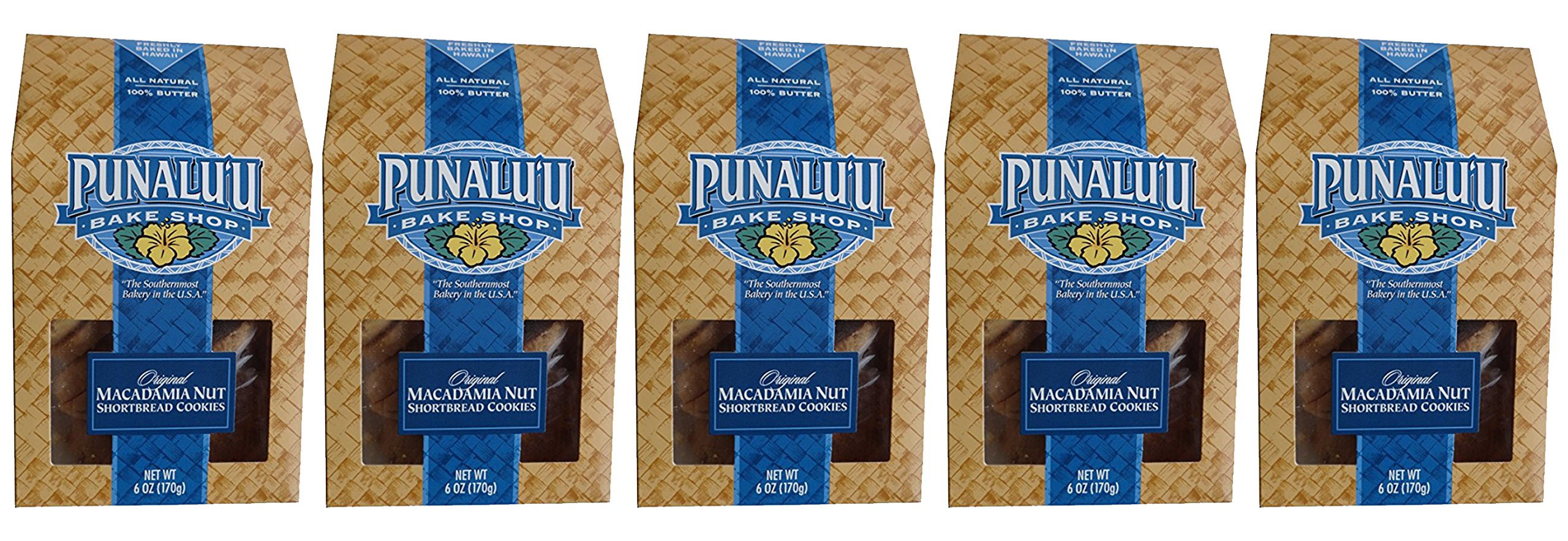 5 Box Count of Fresh Baked Punalu'u Bake Shop Shortbread Cookies (All Original)