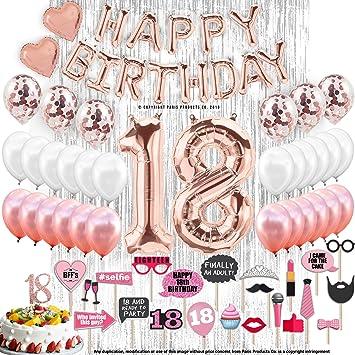 Amazon.com: Adornos para 18 cumpleaños, 18 cumpleaños, 18 ...
