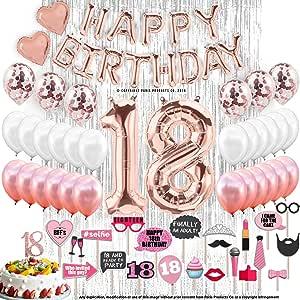 Round Confetti Balloon Happy Birthday Cake Topper Decor Party Accessories CF