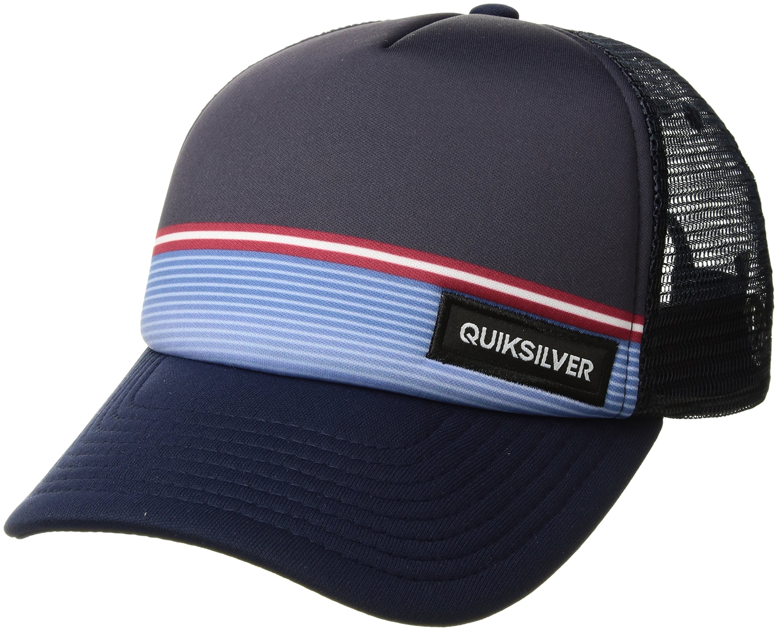 Quiksilver Big Boys' Stripe Stare Youth Hat, 410 Navy Blazer/Blue, 1SZ