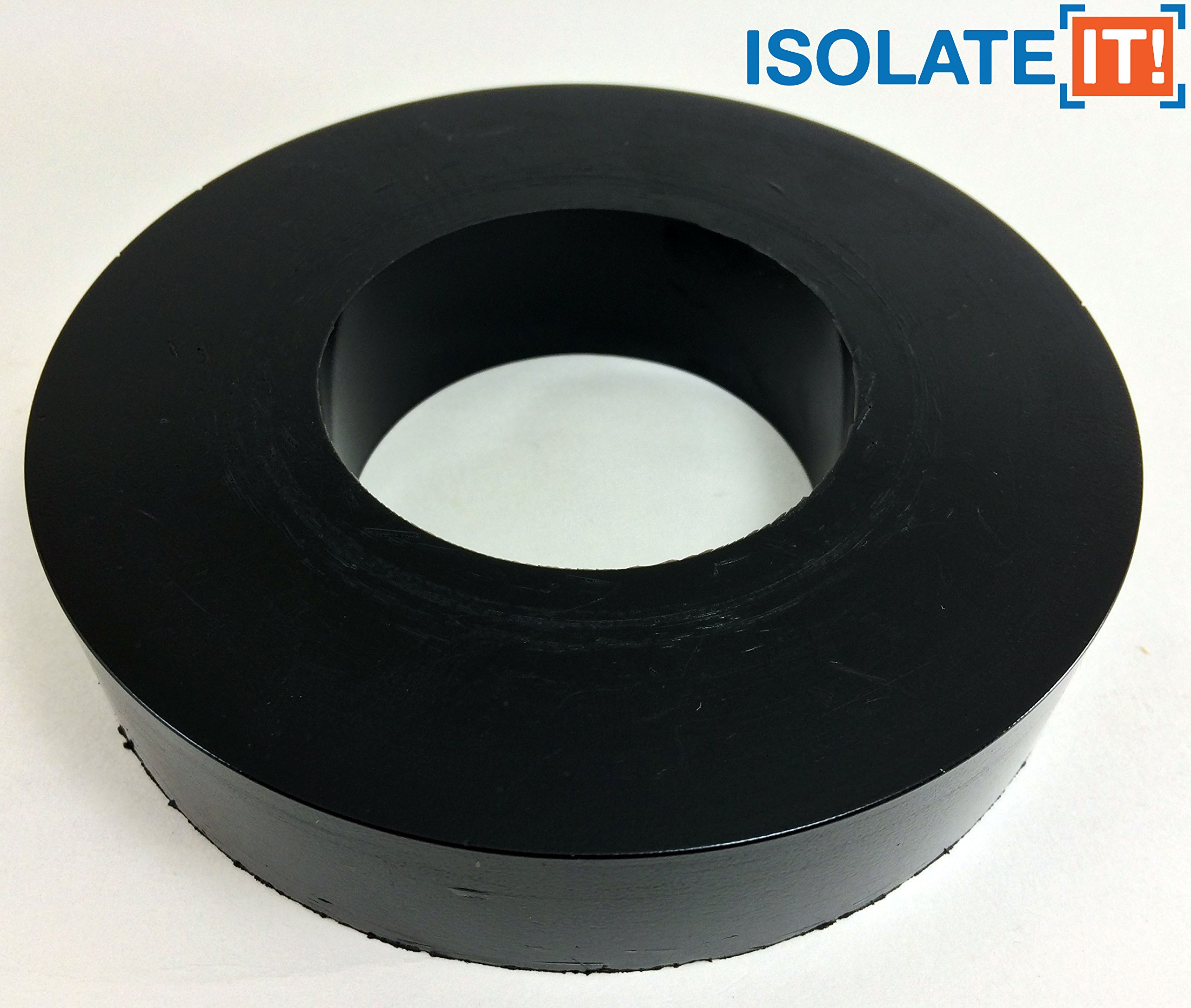 Isolate It: Sorbothane Large Vibration Isolation Washer 5'' OD x 2.5'' ID x 1'' Thick 70 Duro - 4 Pack by Isolate It!