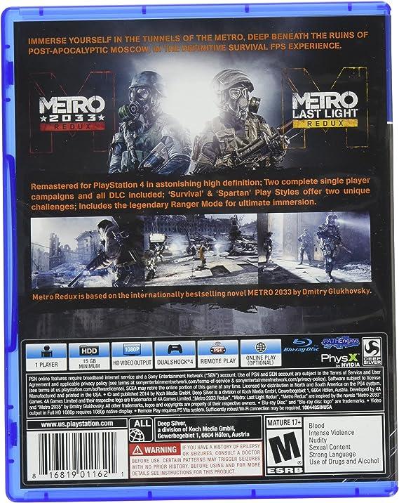 Metro Redux - PlayStation 4 by Deep Silver: Amazon.es: Videojuegos