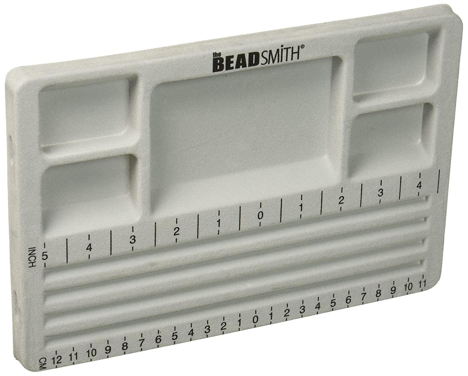 The BeadSmith Travel Bead Design in Beading Board and Gray Flock with Lid 7.75 by 11.25-Inch