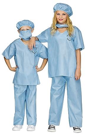 Fun World Médico Scrubs Deluxe - Niños Disfraz: Amazon.es ...