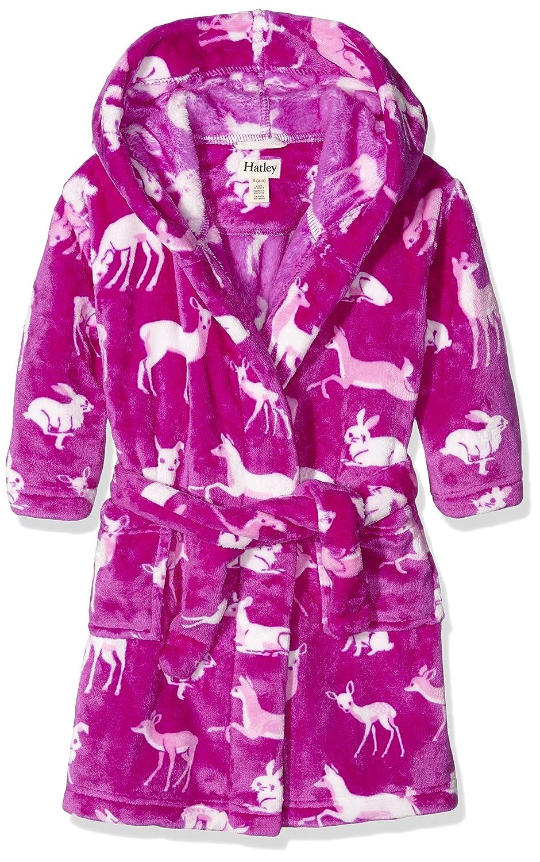 Hatley Mädchen Kleid Fleece Robe-Deers & Bunnies