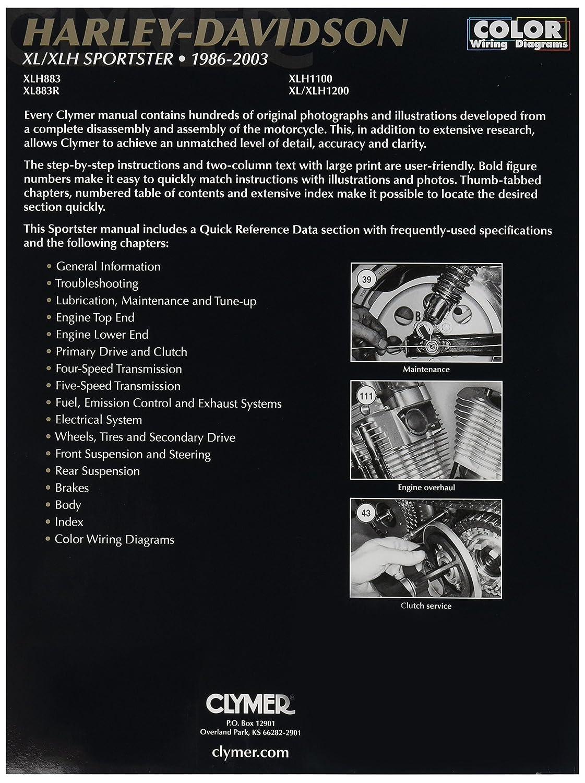 Clymer Harley Davidson Xl Sportster 04 06 Manual M427 1982 Wiring Diagram 1 Automotive