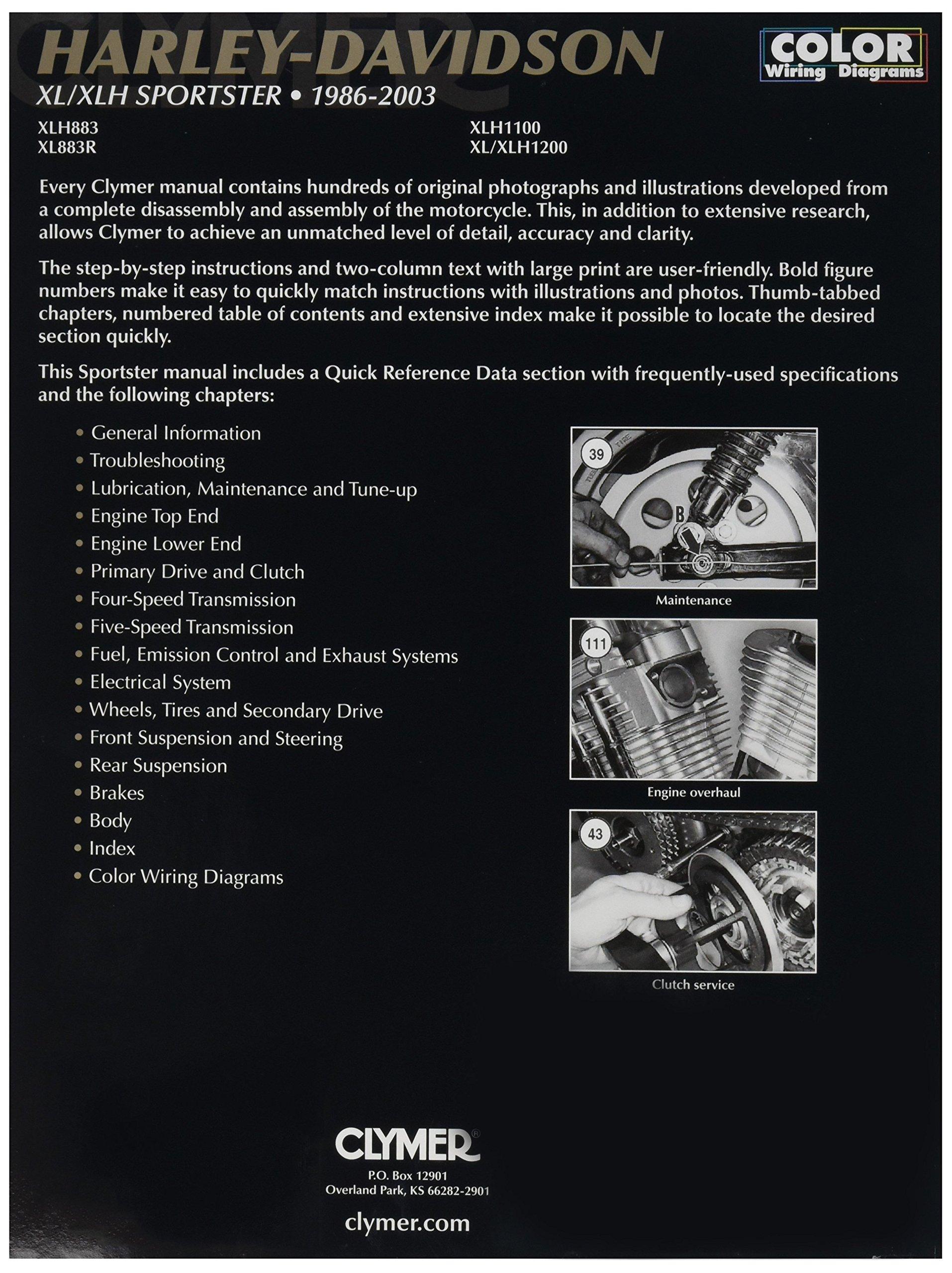 Clymer Harley Davidson XL Sportster (04-06) Manual M427-1 by Clymer (Image #2)