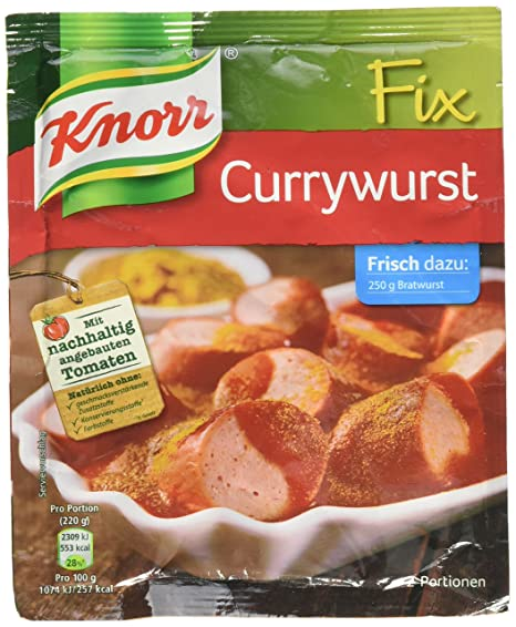 Knorr Fix fr Currywurst procucto Aleman