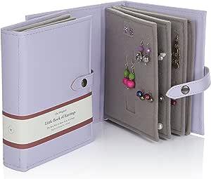 Little Book Of Earrings - Organizador de joyas para armario - Caja de joyería Pendientes - Lila: Amazon.es: Hogar