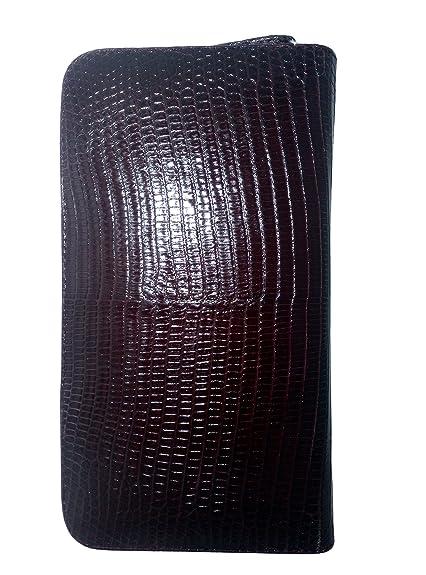 d29dcb34999e Amazon | ラウンドファスナー Wine color ワイン 茜色 長財布 トカゲ革 ...