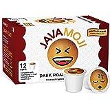 JavaMoji, Emoji Pods, Dark Roast Coffee, 100% Recyclable, 72 Count (Pack of 6)