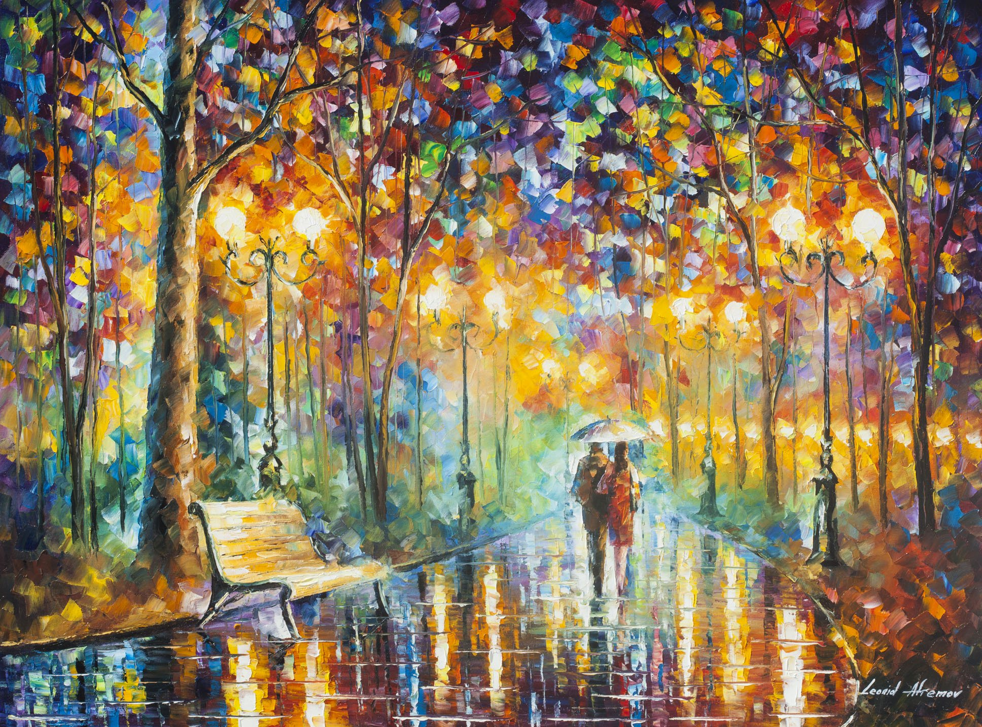RAINS RUSTLE 3 (30 x 40) - Artist Proof by Leonid Afremov by