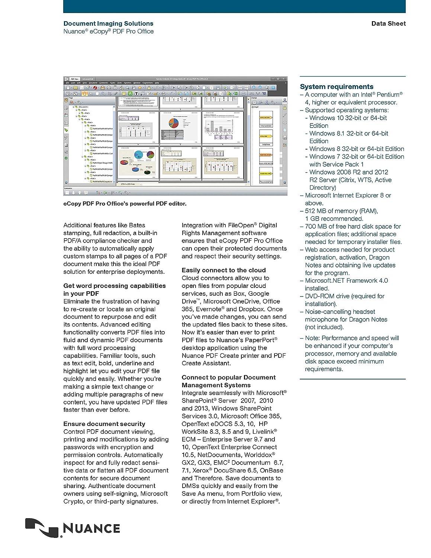 Nuance eCopy PDF Pro Office - 10 User License: Amazon ca: Electronics