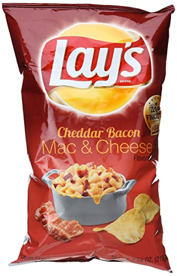 Image result for bacon mac and cheese potato chips