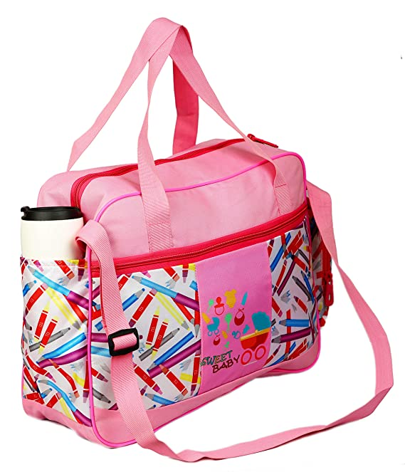 TRAWOC Diaper Bag Multi Compartment Mother Bag for Baby Care (Sweet Baby)