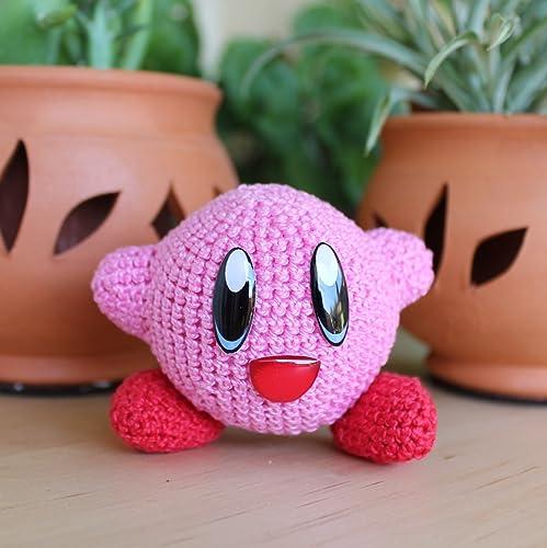 Kirby, Amigurumi de Ganchillo Hecho a Mano, Muñeco de Peluche, Regalo, Kirbys