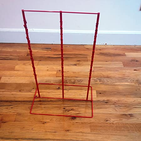 Candy /& Snack Hanging Display Rack in Red 3 Strips 39 Clip Potato chip