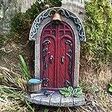 Miniature Pixie, Elf, Fairy Door - Tree Garden Home Decor - Fun Quirky Gift Figurine - H9cm