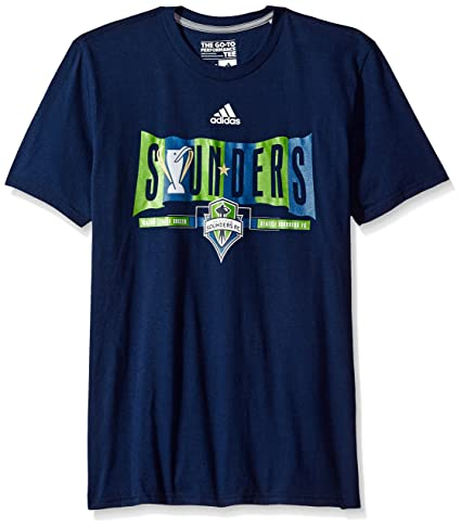 new product cf6f6 4a729 adidas MLS Seattle Sounders FC Adult Men Banner Season Go-to Performance  Tee, Medium
