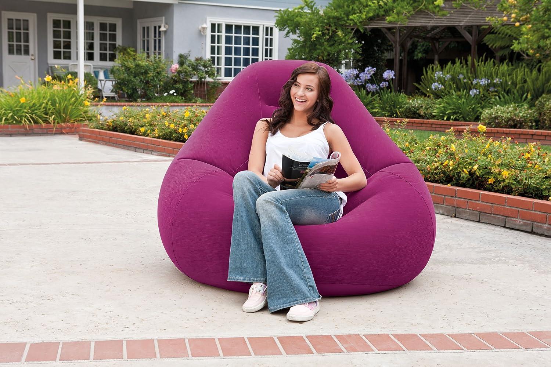 Intex Deluxe Beanless Bag Inflatable Chair Grape 48 X 50 X 32 68584EP 48 X 50 X 32