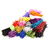 "Pipe Cleaners 2000 Pieces (12"" long, 6mm diameter). Box of 20 Colors x 100 Chinelle Pipe Cleaners Per Color. Crafting Supply, Christmas Gift, or Surprise Present. Trader Street (TS11433)"