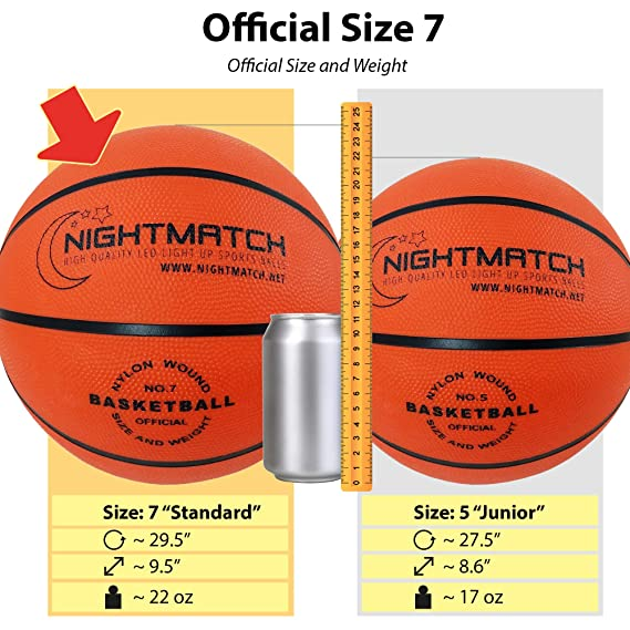 Glow In The Dark Basketball Ballon De Basketball Lumineux