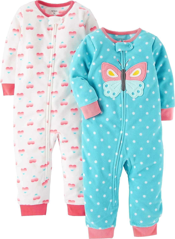 Carters Boys Toddler 2-Pack Fleece Footless Pajamas