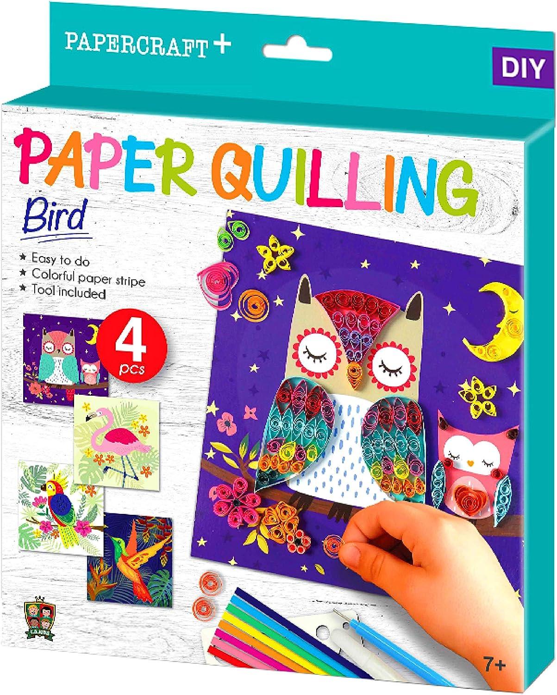 Make Art Papierstreifen /& Werkzeuge enthalten Vogel 3D Quilling Design Kits f/ür Kinder C.S.KIDS PQ03 C.S DIY Kunst /& Handwerk Geschenke