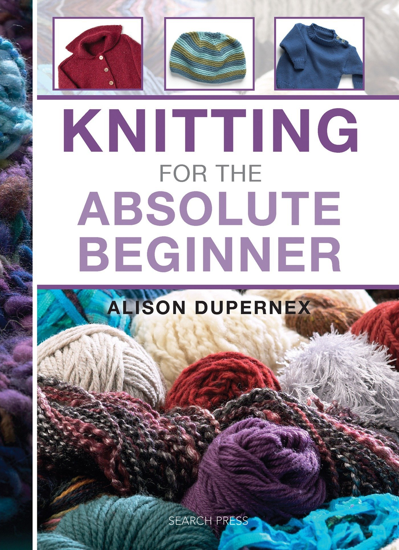 Knitting for the Absolute Beginner (Absolute Beginner Craft) by Search Press (Image #1)