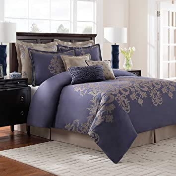comforter ifornia discount king sets calking blue and purple california cal s white black clearance gray