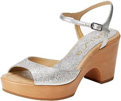 Higher-Heels , chaussures compensées femme - argent - Silber, 38 EU