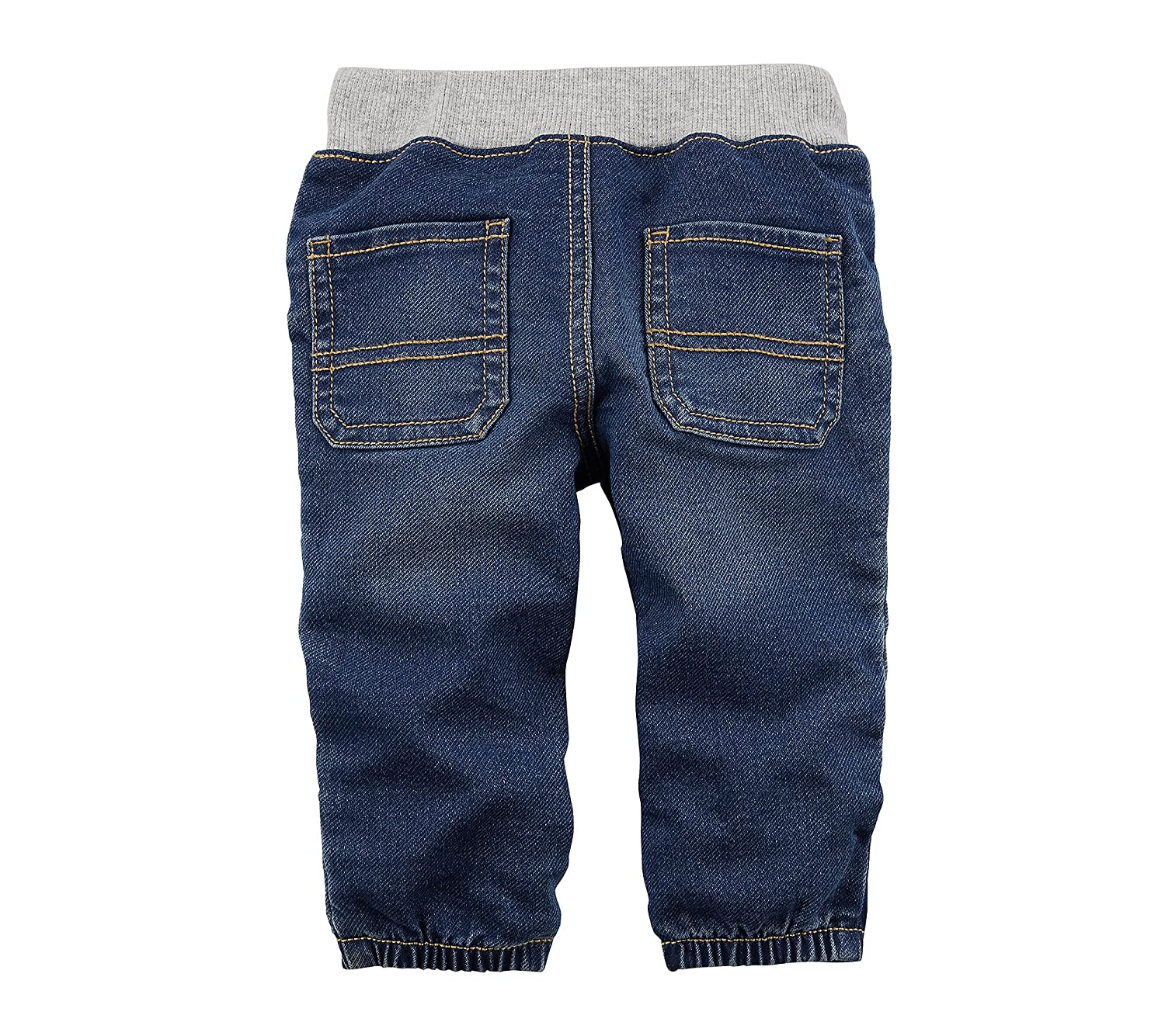 bbc6ff77a Amazon.com  Carter s Baby Boys  Pull On Faux Denim Joggers  Clothing