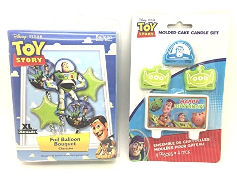 Amazon.com: Disney Toy Story Buzz Luz Año Cumpleaños Ramo de ...