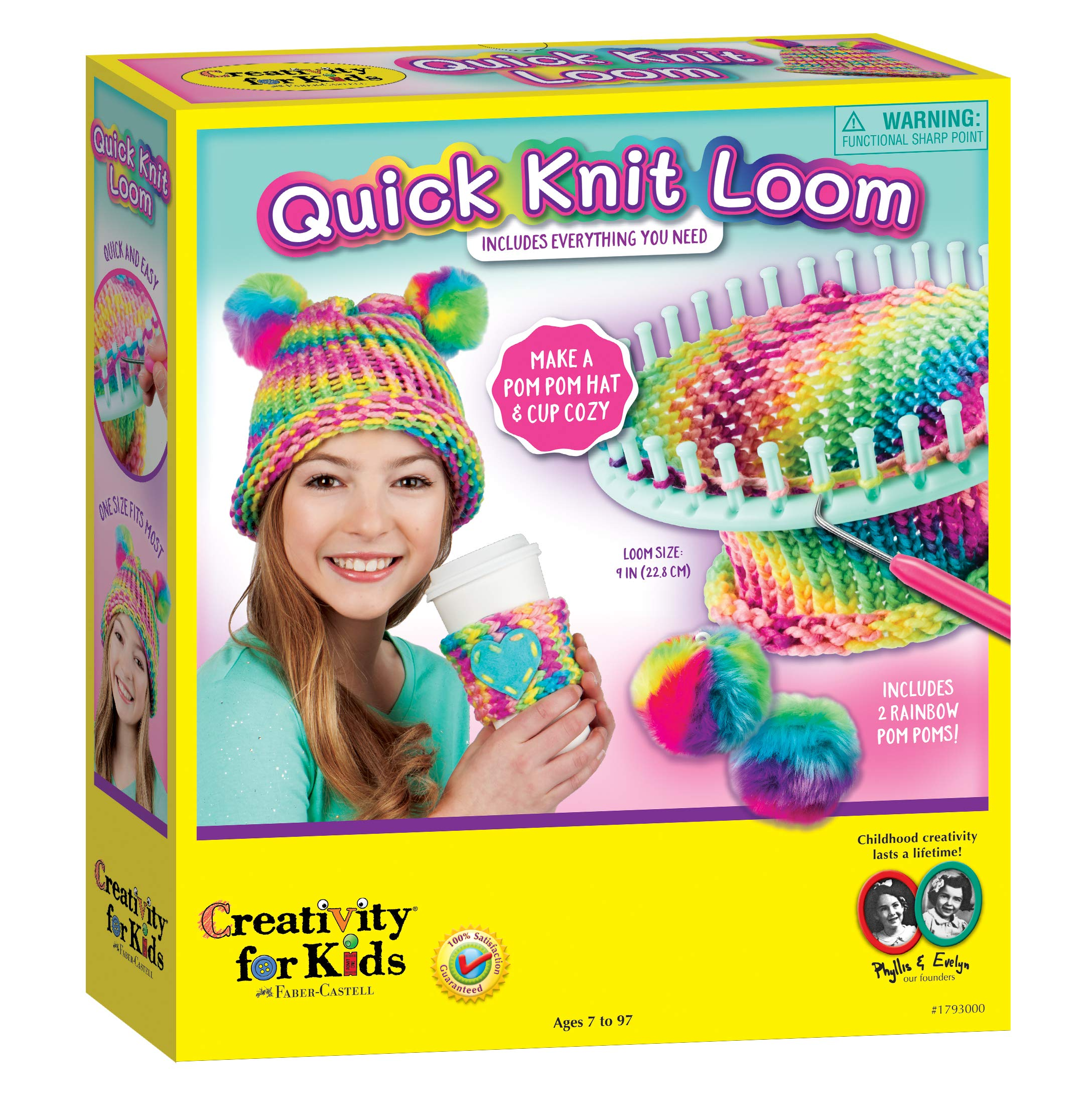 Creativity for Kids Quick Knit Loom - Make Your Own Pom Pom Hat And Accessories For Beginners (Packaging May Vary) by Creativity for Kids