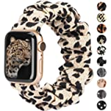 TOYOUTHS Compatible with Apple Watch Band Scrunchie 38mm 40mm Women Elastic Strap Soft Cloth Fabric Pattern Printed…