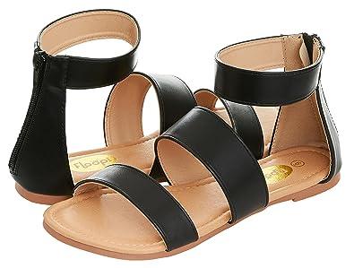 30460786d Floopi Womens Summer Slide Ankle Strap Flat Sandal W Zipper (6