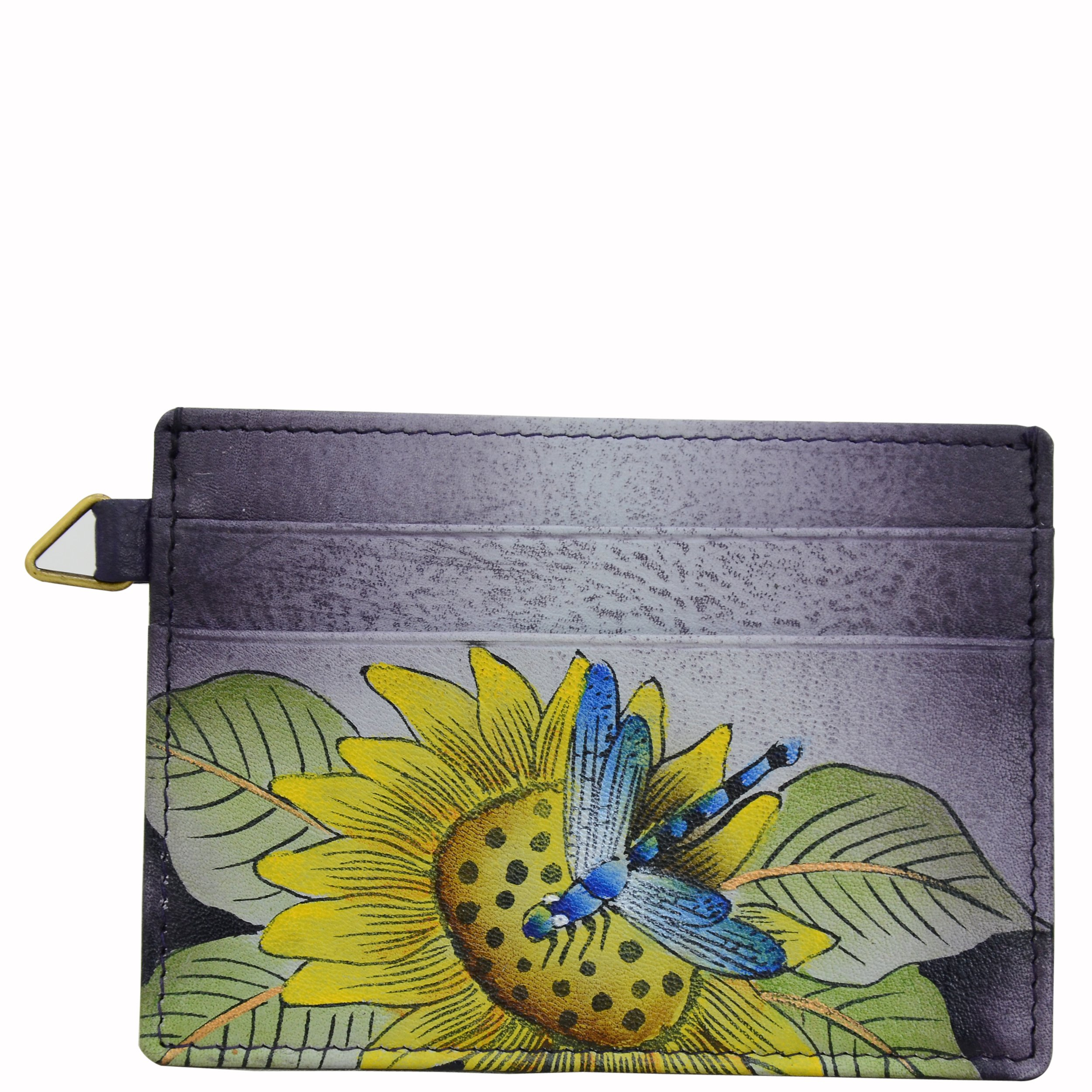 Anna by Anuschka Credit Card Case | Genuine Leather, Hand-painted Original Art | Tuscan Paradise by Anna by Anuschka