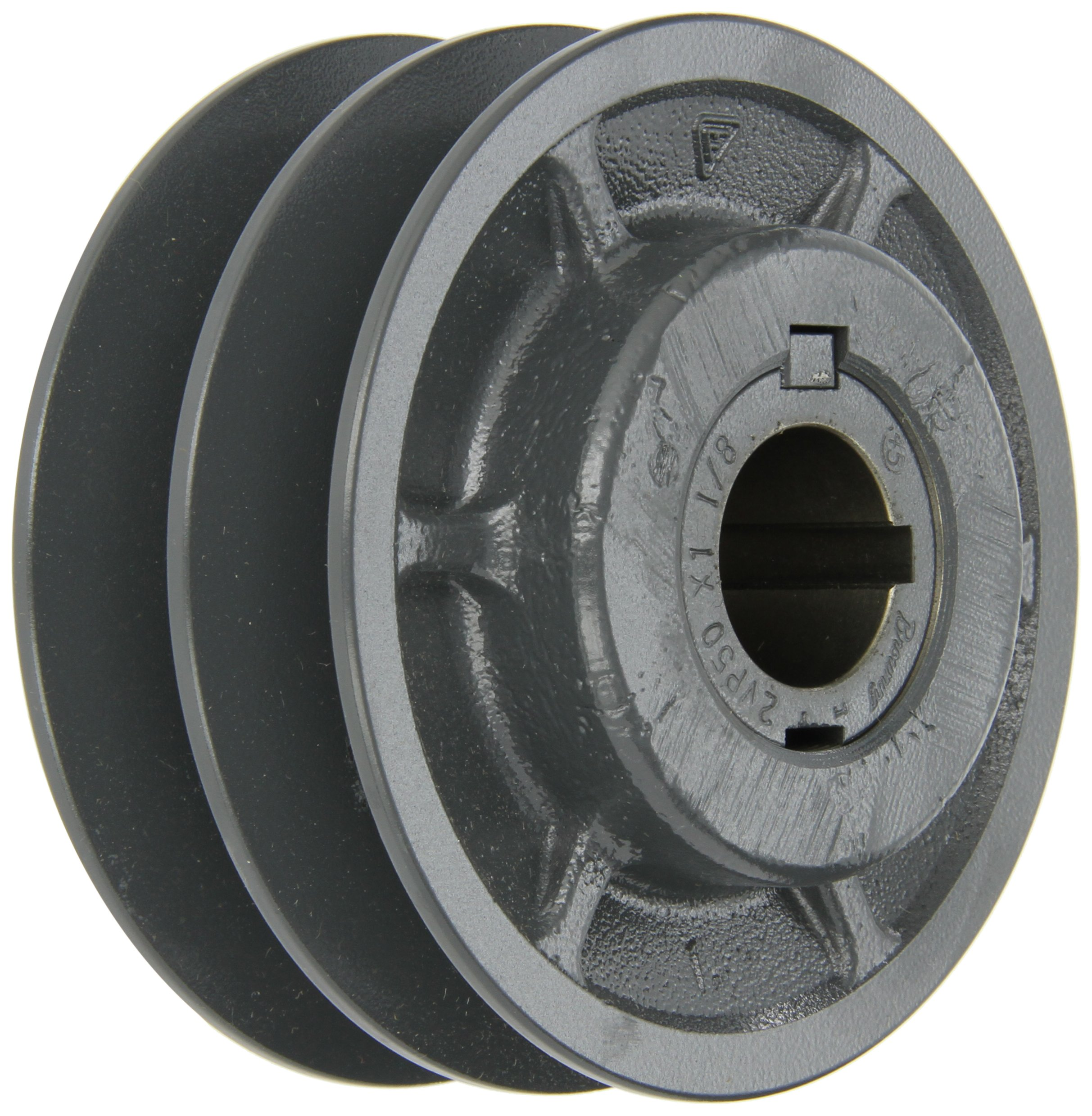 Browning 2VP50X 1 1/8 Variable Pitch Sheave, 2 Groove, Finished Bore, Cast Iron Sheave, for 3L, 4L or A, 5L or B Section Belt