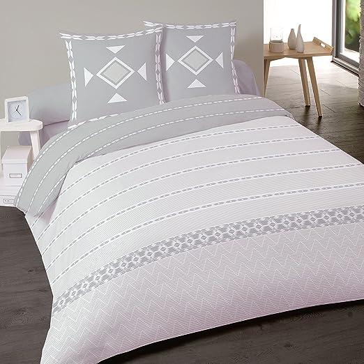 Juego de sábanas de franela algodón para cama de 160 Perle 4 ...