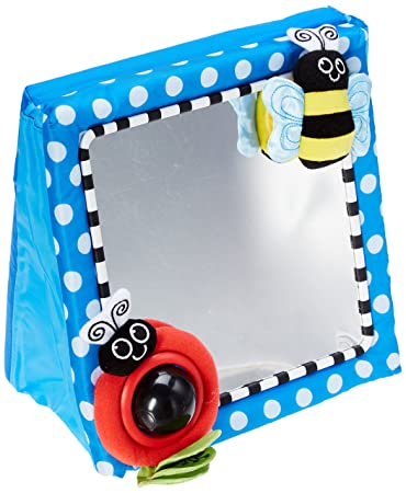 Amazon.com : Sassy Floor Mirror, Blue : Baby Toys : Baby