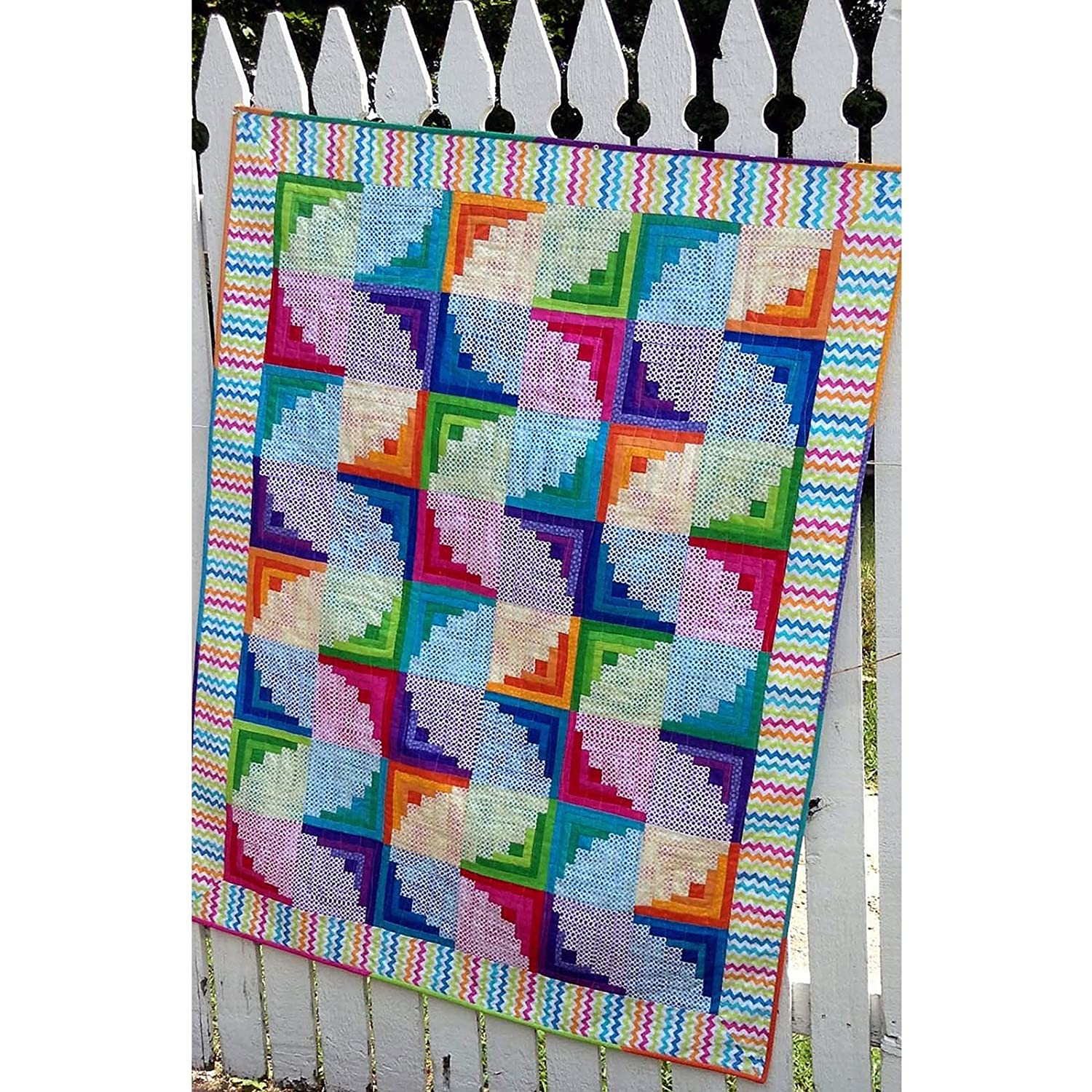 Wiggly Worms Curvy Log Cabin Quilt Pattern by Cut Loose Press and Natural Comforts Quilting