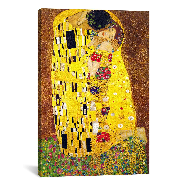 iCanvasART Gustav Klimt The Kiss Canvas Art Print Painting ...