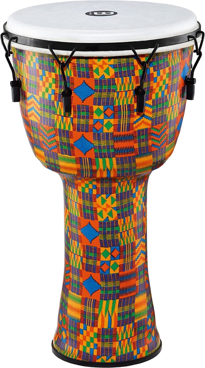 Meinl Percussion Travel Djembe with Synthetic Shell and Head-NOT Made in CHINA-14 Extra Large Size Mechanically Tuned Kenyan Quilt 2-Year Warranty XL 14 PMDJ2-XL-F
