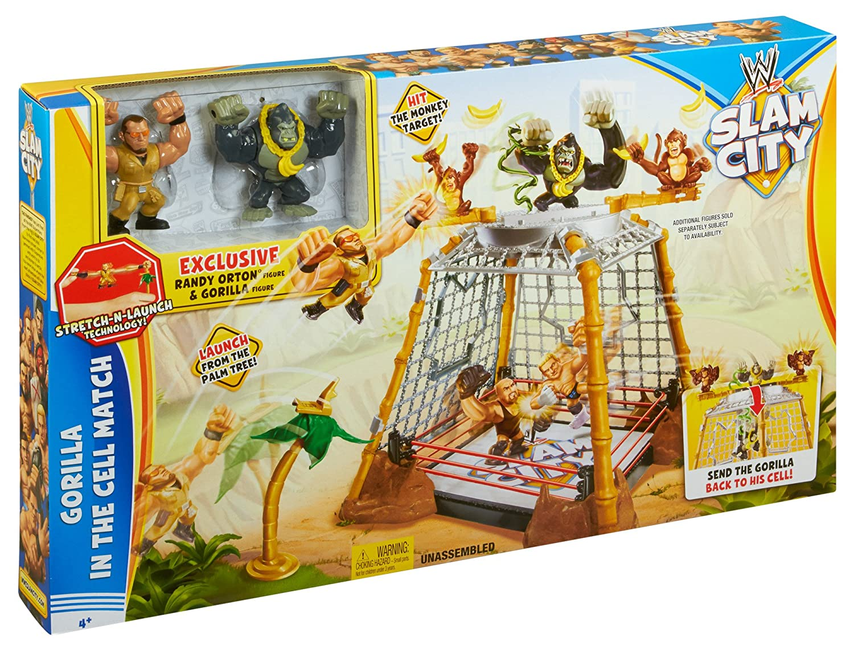 WWE Slam City Gorilla En Un Célula Partido: Amazon.es: Juguetes y ...