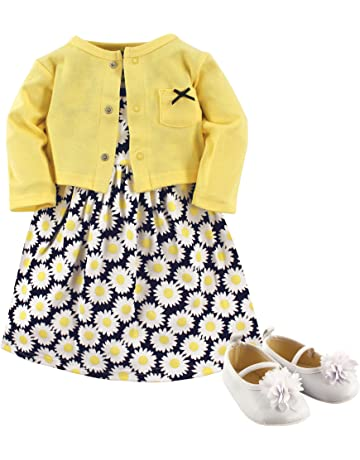 f3884fc5e7f6d Hudson Baby Girl Dress, Cardigan and Shoes. #1